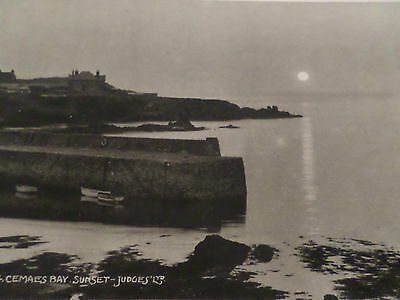 Real Photo Postcard Cemaes Bay Sunset Anglesey