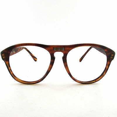 1960s RARE TORTOISE PERSOL STYLE EYEGLASSES FRAME EYEWEAR VINTAGE MADE IN ITALY