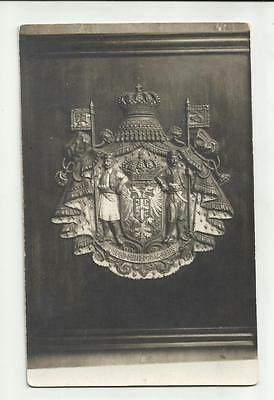 Old photo RPPC 1942 Crest Peter I. of Serbia