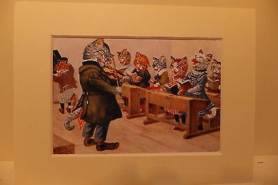 Reprint Postcard  The Cats Singing Lesson