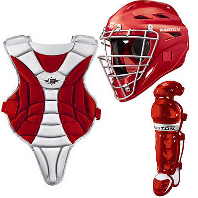 Easton Youth Black Magic Catchers Gear Sets Red Ages 9-12