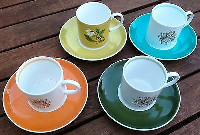 Vintage Susie Cooper Design Coffee Cups And Saucers c1950 to 1970