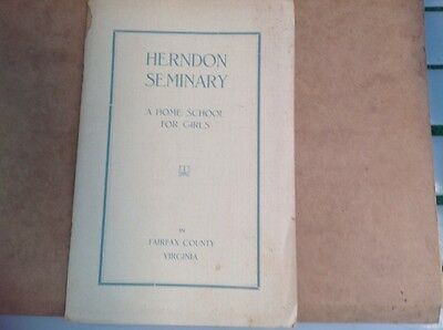 Virginia Herndon Seminary a Home School for girls booklet