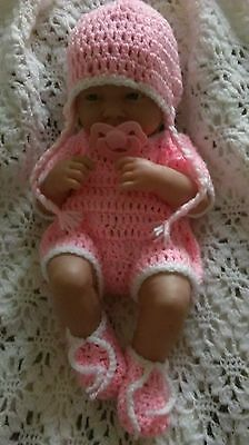 """Hand made clothes for 14"""" la new born cup cake berenguer reborn baby dolls NEW"""
