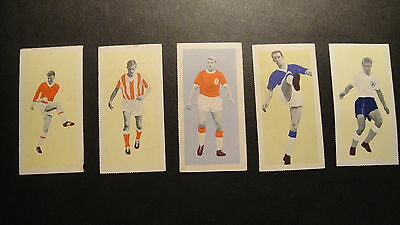 TRADE CARDS  FLEETWAY  THE TIGER STAR FOOTBALLERS OF1963 Nos25.20.19.18.5.
