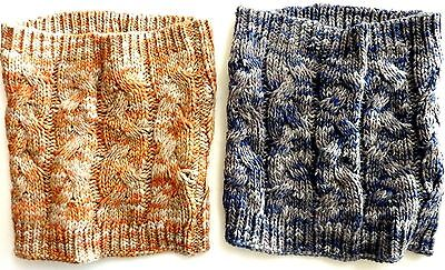ZARA Kids Girls Knitted ORANGE BLUE Cable Tube Winter Snood Scarf One Size £9.99