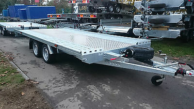 NEW Twin Axle Platform Car Transporter Recovery Trailer 2700kg 4.5m