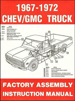 1967-1972 Chevrolet, GMC Truck Factory Assembly Manual