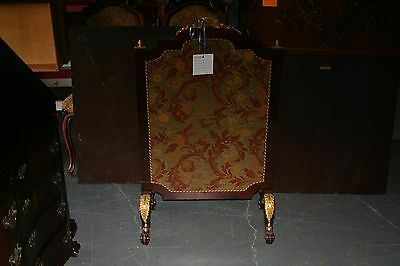 French Fire Screen Mahogany With Dore Bronze Mounts