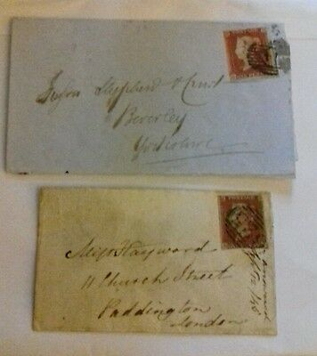 QV, 1cover 1 entire with 1841 imperf 1d reds