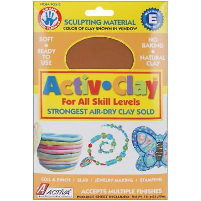 Activa - Activ-Clay Air-Dry Clay 1lb - Terra Cotta 161A  - Modeling Clay