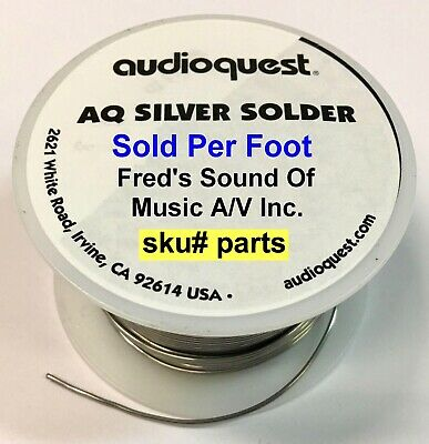Audioquest Genuine Silver Solder Priced Per Foot, Order Any Quantity 1=1ft 2=2ft