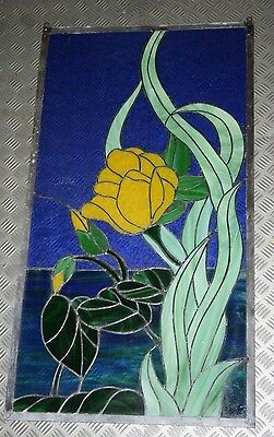 """42"""" x 23"""" Stained Glass Lead Window"""