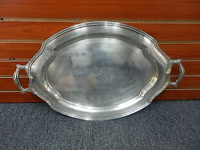 Vintage (1926) Reed & Barton Large Sterling Silver Tray #741 5 Lbs! Engraved