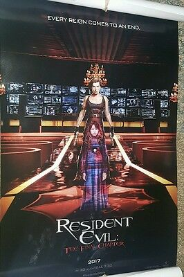 Resident Evil Final Chapter Movie Poster Milla Jovovich 2016 NYCC Exclusive