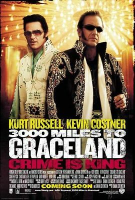 "3000 MILES TO GRACELAND Double Sided Original Movie Poster 27""x 40"""
