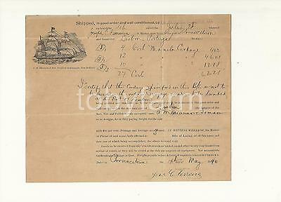 1890 C R Sherman Nautical Instruments New Bedford Provincetown Schooner Lading