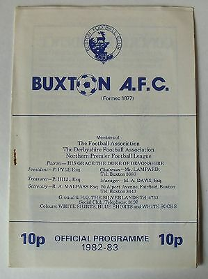 28th Nov 1982 , Buxton v Gainsborough Trinity