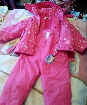 girls 2 piece snow suit size 4 years