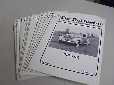 Lot Of 14 Vintage The Reflector Antique Classic Car Booklets Or Magizines