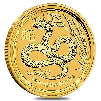 2013 Australia Lunar Year Of The Snake 1/10 Oz Gold