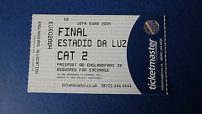 FINAL EURO 2004 ENGLAND ALLOCATION TICKET 4 July Portugal Vs Greece