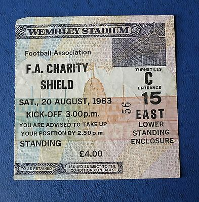 1983 CHARITY SHIELD TICKET Manchester United Vs Liverpool