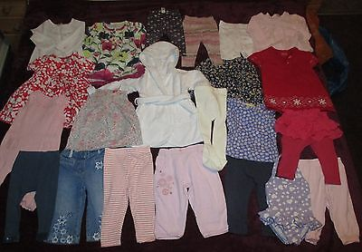 Baby Girl Clothes Bundle 6-9 Mths Tops Dresses Trousers Leggings  Tights Etc