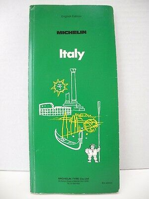 Michelin Green Guide ITALY 1974 English Text Vintage Travel Guidebook
