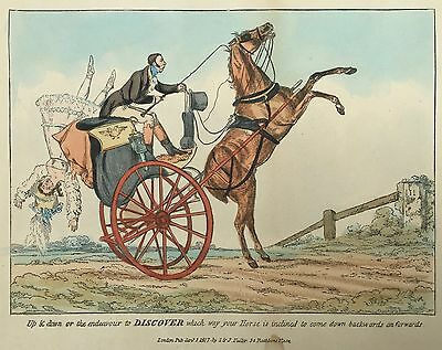 Thomas Henry Alken - Hand Coloured Lithograph - Up & Down.........