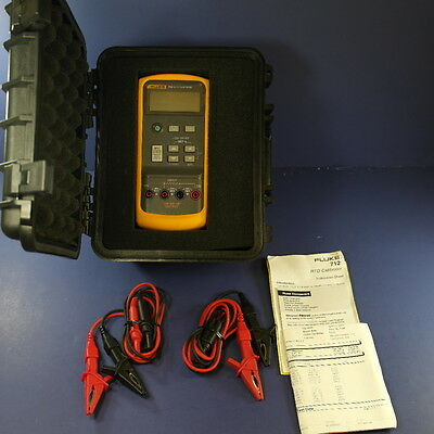 Fluke 712 RTD Calibrator, New Condition, with Deluxe Case and Accessories!