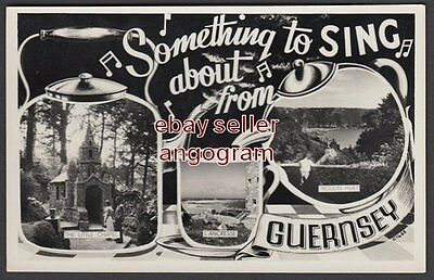 GUERNSEY REAL PHOTO POSTCARD - Something to sing about from Guernsey. C1465