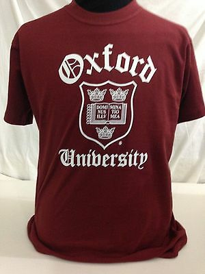 Officially Licenced Oxford University T- Shirts Unisex