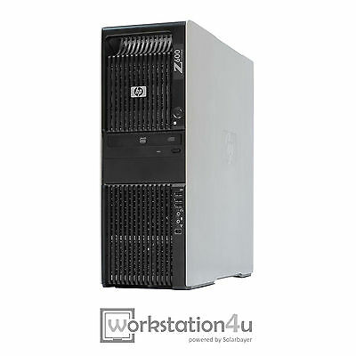 HP Z600 PC Workstation 1x Xeon Quad Core E5506 Ram 4GB HDD 250GB Office Graphic