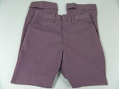 Vintage Double Knit Cuffed Pants Mens Size 32 x 32