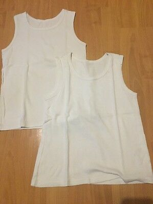 2 X Boys John Lewis vest tops Size Age 9 years
