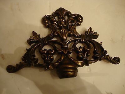 "Large Fancy 10"" Wide 7"" Tall Accent  Furniture Top Finial  Hard Composition"