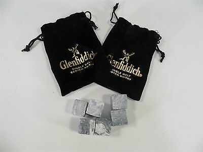 Glenfiddich Whiskey Stones In Pouch Stone Cubes For Your Finest Single Malt X2