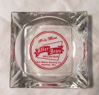 Square Alder Brau Beer Glass Ash Tray