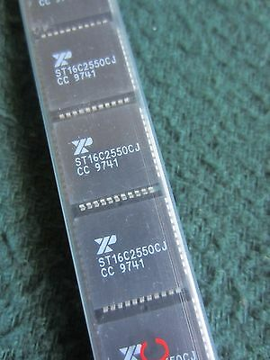 Lot of Qty(23) ST16C2550CJ Dual-UART with 16 byte FIFO IC's, 44-PLCC package
