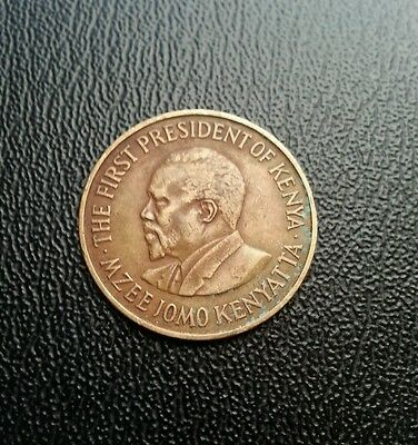 Kenya 1971 5 cents coin. World coin collectable