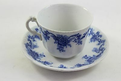 Antique Tea Cup and Saucer Blue Flow by Martha