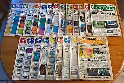 JOBLOT Popular Computing Weekly Magazine 23 issues excellent condition rare cult