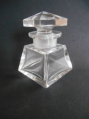 Antique Crystal Glass Inkwell