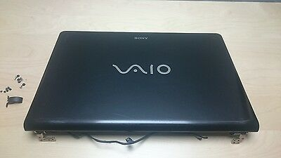 OEM Sony Vaio VPCEE Series LED LCD Screen TOP Cover LID + BEZEL & Hinges (READ!)