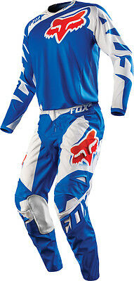 Set Jersey + Trousers (Size 34 - XL) Fox 180 Blue Mx Gear Cross Enduro