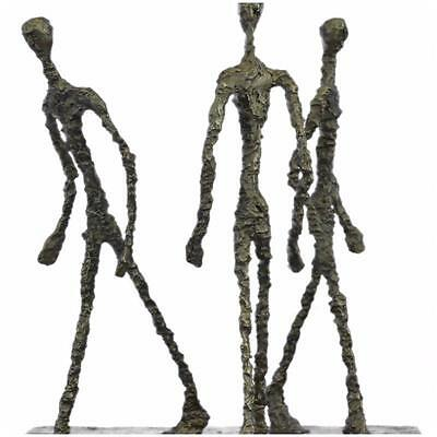 Abstract Modern Art Walking Group By Gia Cometti Bronze Sculpture Statue Figur