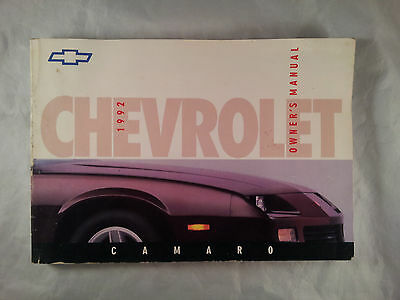 1992 Chevrolet Camaro Owners Manual User Guide Reference Operator Book Fuses OEM