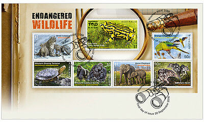2016 Endangered Wildlife - First Day Cover (Minisheet)
