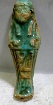 Egyptian Antique, USHABTI Amulet Faience, with a hole for Chain